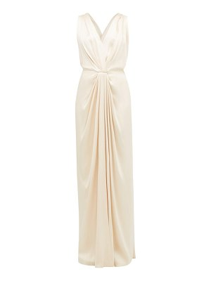 William Vintage ysl draped satin gown