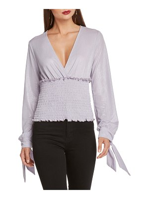 Willow & Clay smocked tie sleeve top