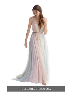 WILLOWBY hutton rainbow tulle a-line wedding dress
