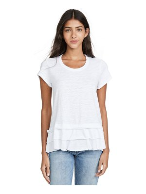 Wilt double tier mock hem crew tee