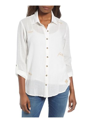 Wit & Wisdom embroidered button down shirt