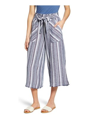Wit & Wisdom paperbag waist crop wide leg pants