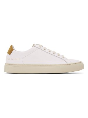 Common Projects white and brown special edition retro low sneakers