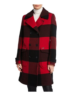 Woolrich Silverton Double-Breasted Check Coat