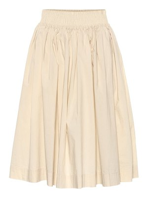 Woolrich w's pleated cotton poplin skirt