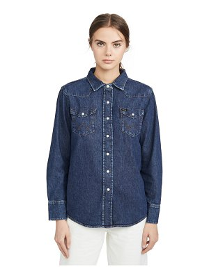 Wrangler indigo collection western shirt