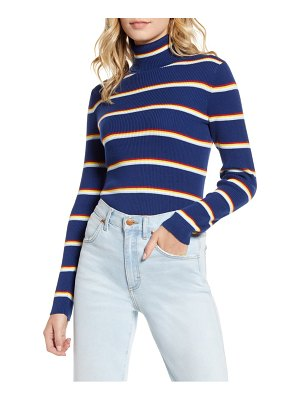Wrangler stripe ribbed turtleneck top