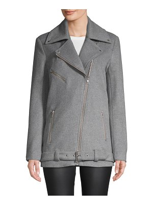 Wythe NY Long Wool-Blend Moto Jacket