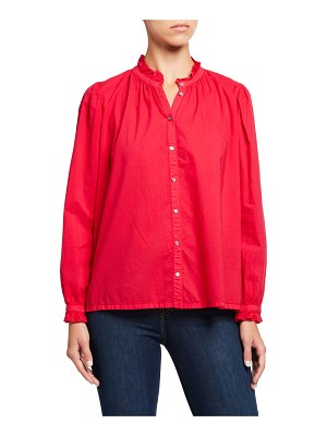 XIRENA Emery Frilled Collar Button-Front Shirt