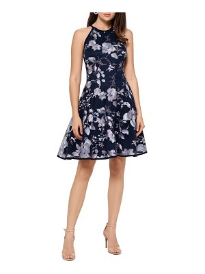 Xscape embroidered cocktail dress