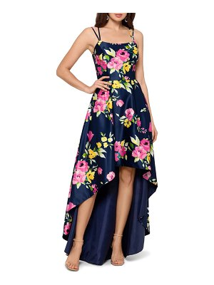 Xscape floral high/low gown