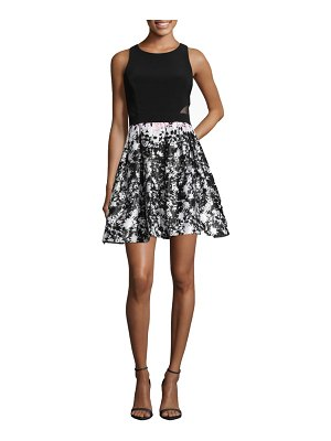 Xscape print skirt party dress