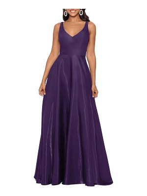 Xscape shimmer sleeveless gown