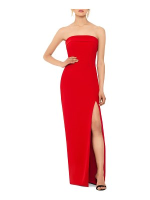 Xscape strapless evening gown