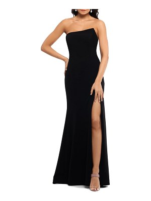 Xscape strapless scuba crepe mermaid gown