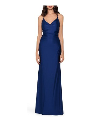 Xscape strappy ruched gown