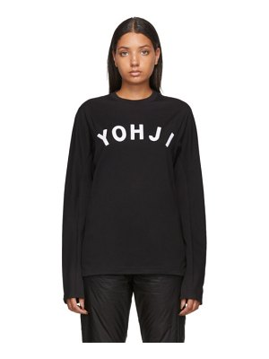 Y-3 black and white yohji letters long sleeve t-shirt