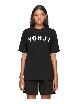 Y-3 black and white yohji letters t-shirt
