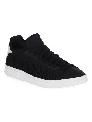 Y-3 lace-up suede sneakers