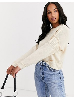 Y.A.S cropped knit sweater-pink