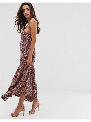 Y.A.S festival ditsy floral cami maxi dress with lace trim-multi