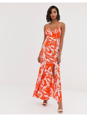Y.A.S floral fishtail maxi dress-multi