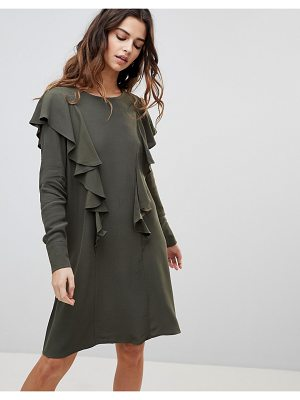 Y.A.S gina ruffle front dress