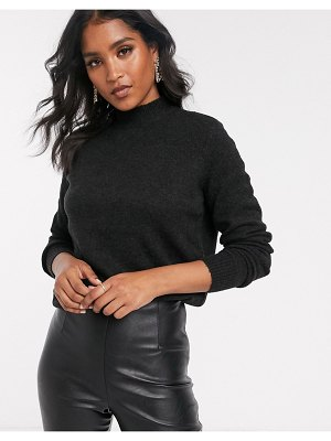 Y.A.S high neck brushed sweater-black