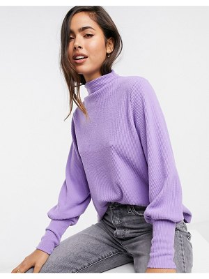 Y.A.S knitted sweater with batwing sleeves in lilac-purple
