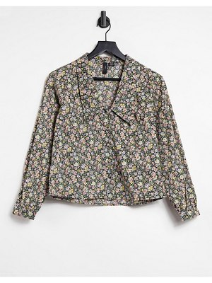 Y.A.S shirt with prairie collar in floral print-multi