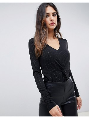 Y.A.S spotted knotted body-black