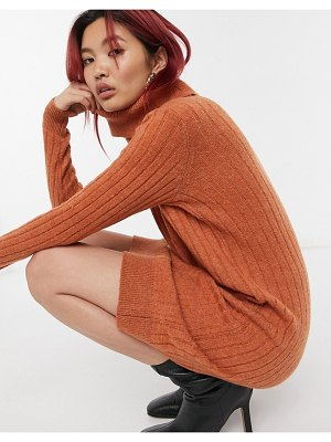 Y.A.S sweater dress in rust-brown