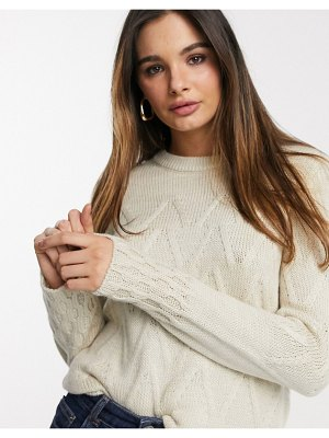 Y.A.S sweater with chevron detail in cream