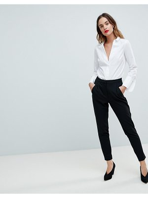 Y.A.S tailored pants with elasticated waist in black