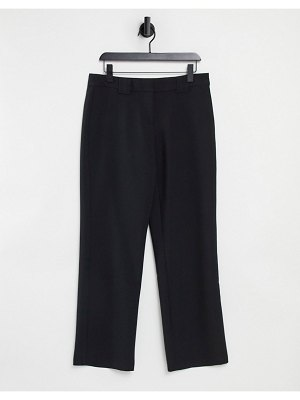 Y.A.S wide leg tailored pants in black