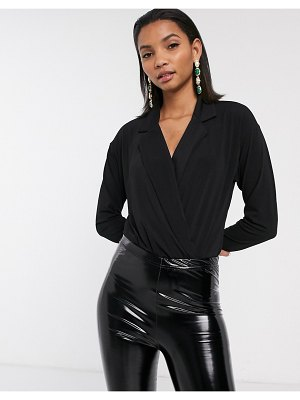 Y.A.S wrap body with collar in black