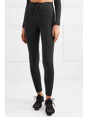 YEAR OF OURS football lace-up ribbed stretch leggings