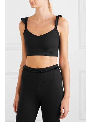 YEAR OF OURS sarah ruffled stretch sports bra