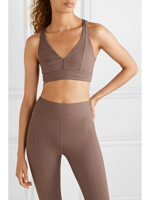 YEAR OF OURS veronica cutout ribbed stretch sports bra