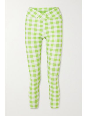 YEAR OF OURS veronica wrap-effect gingham stretch leggings