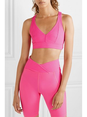 YEAR OF OURS victoria cutout ribbed stretch sports bra