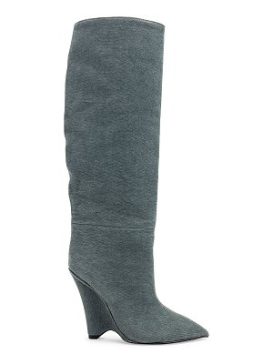 Yeezy season 8 wedge knee high boot