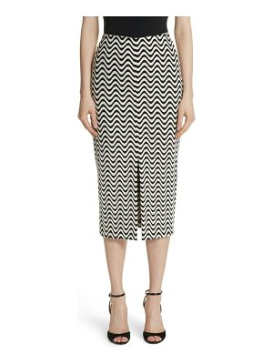 Yigal Azrouel wave pattern body-con skirt