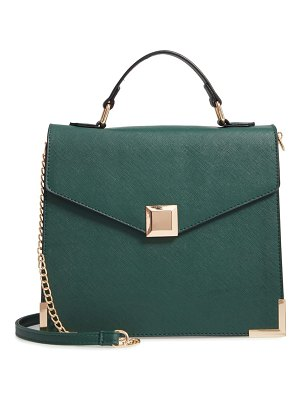 YOKI BAGS square faux leather satchel