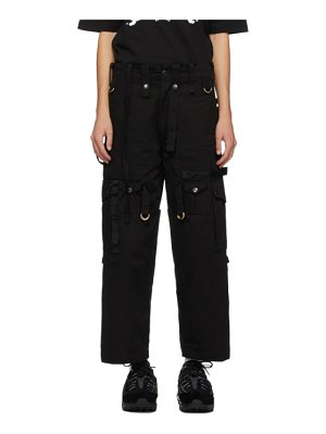 Youths in Balaclava black cargo trousers