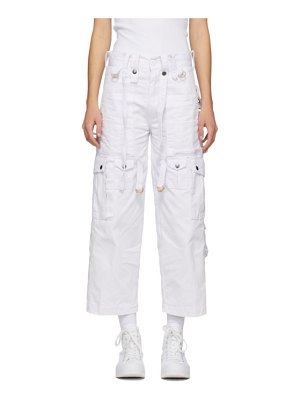 Youths in Balaclava white cargo trousers