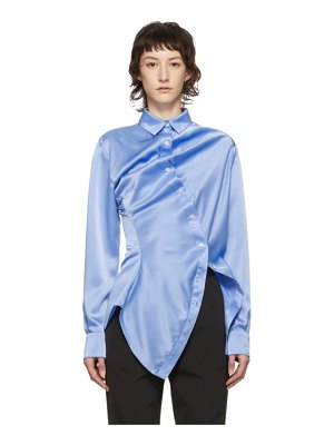 Y/PROJECT blue twisted shirt