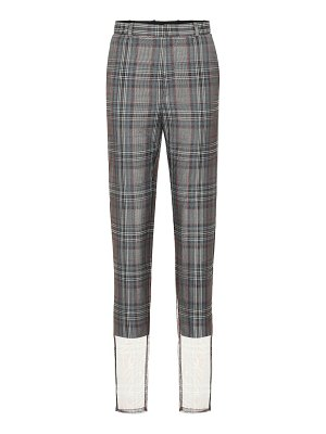 Y/PROJECT checked wool-blend high-rise pants