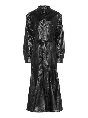 Y/PROJECT faux leather shirt dress