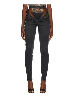 Y/PROJECT grey g-party jeans